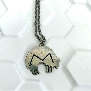 Vintage southwestern bear charm necklace